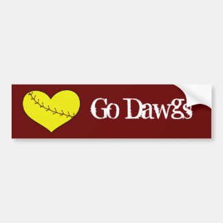 Fastpitch Softball Heart Bumper Sticker