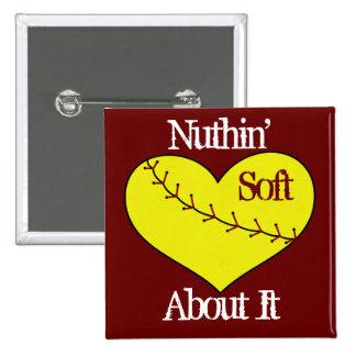 Fastpitch Softball Heart Button