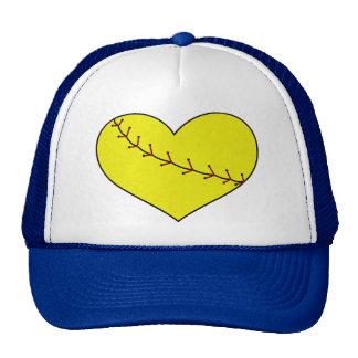Fastpitch Softball Heart Cap Trucker Hat