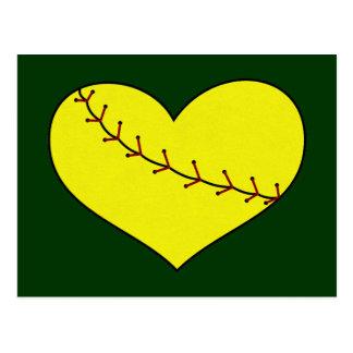 Fastpitch Softball Heart Postcard