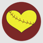 Fastpitch Softball Heart Stickers