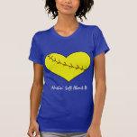 Fastpitch Softball Heart T-shirt