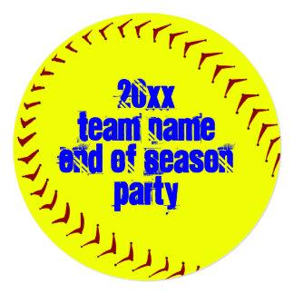 Fastpitch Softball Invitations