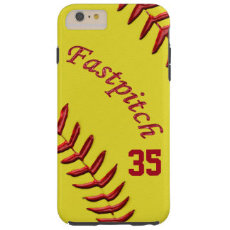 Fastpitch Softball iPhone Plus Case, Jersey Number Tough iPhone 6 Plus Case