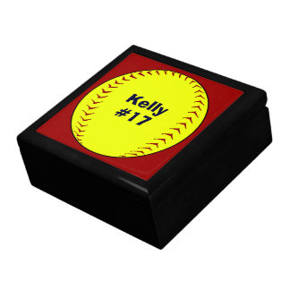 Fastpitch Softball Keepsake Box