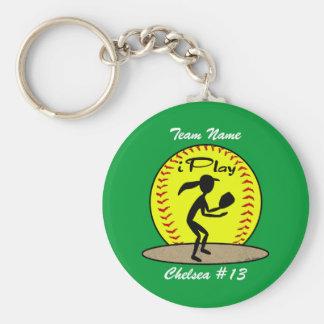 Fastpitch Softball Keychain