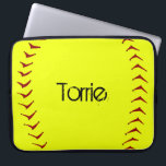 "Fastpitch Softball Laptop Sleeve<br><div class=""desc"">This 15&quot; fastpitch softball laptop sleeve can be customized with a player name,  team name,  player number or personalized for coach.</div>"