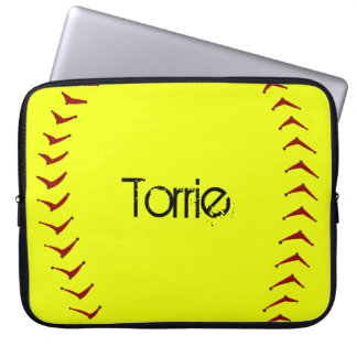 Fastpitch Softball Laptop Sleeve