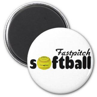 Fastpitch Softball 2 Inch Round Magnet