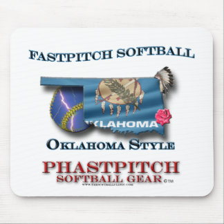 Fastpitch Softball Oklahoma Style Mouse Pad