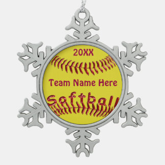 Fastpitch Softball Ornaments TEAM NAME and YEAR