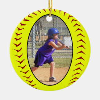 Fastpitch Softball Photo Ornament