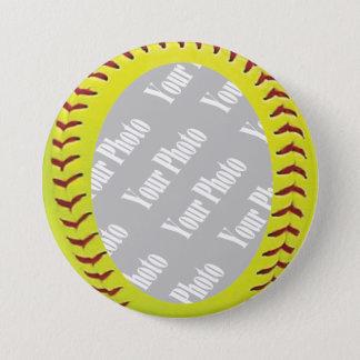 Fastpitch Softball Photo Template Button