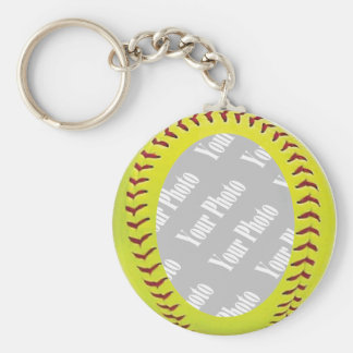 Fastpitch Softball Photo Template Basic Round Button Keychain