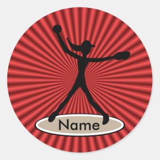 Fastpitch Softball Pitcher Sticker