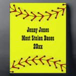"""Fastpitch Softball Plaque<br><div class=""""desc"""">Customize this fastpitch softball placque to recognize or award a player or team for outstanding performance.</div>"""