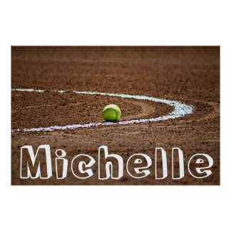 Fastpitch Softball Player Custom Name/Text Poster
