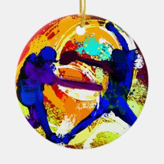 Fastpitch Softball Players Christmas Tree Ornaments
