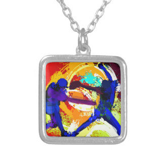 Fastpitch Softball Players Silver Plated Necklace