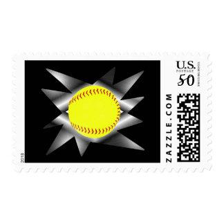Fastpitch Softball Postage Stamp