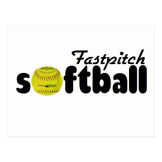 Fastpitch Softball Postcard