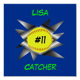 Fastpitch Softball Poster