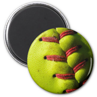 Fastpitch Softball Seam 2 Inch Round Magnet