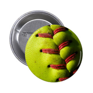 Fastpitch Softball Seam Pinback Button