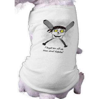 Fastpitch Softball Skull 'N Bats Dog Shirt