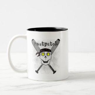 Fastpitch Softball Skull 'N Bats Mug