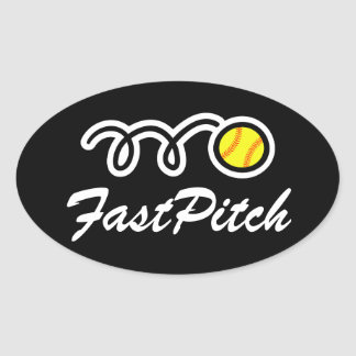 Fastpitch softball stickers | Oval shape