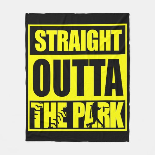 Fastpitch Softball Straight Outta The Park Fleece Blanket