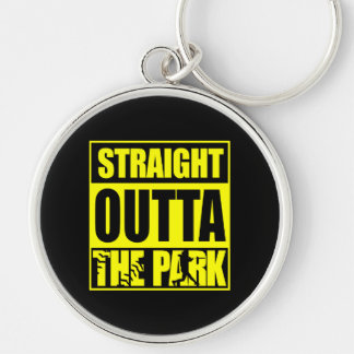 Fastpitch Softball Straight Outta The Park Keychain