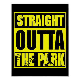 Fastpitch Softball Straight Outta The Park Poster