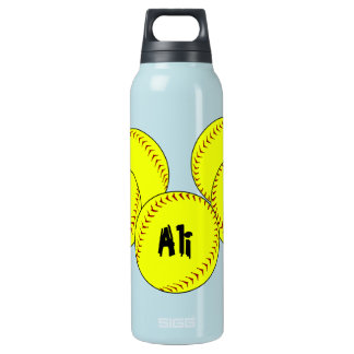 Fastpitch Softball Thermos Water Bottle