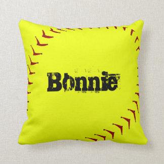 Fastpitch Softball Throw Pillow