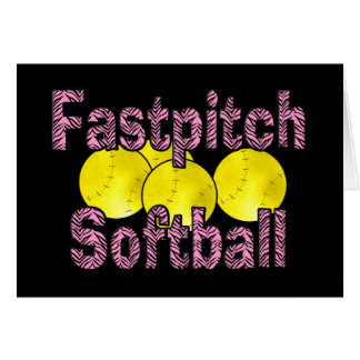 Fastpitch Softball Zebra Style Card