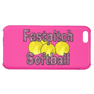 Fastpitch Softball Zebra Style iPhone 5C Case