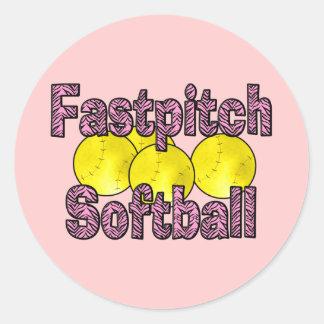 Fastpitch Softball Zebra Style Stickers