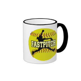 Fastpitch Taza A Dos Colores