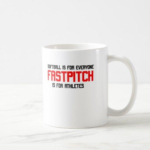 FastPitch Taza Básica Blanca
