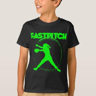 Fastpitch, verde del neón playera