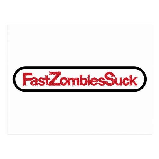 FastZombiesSuck Postales