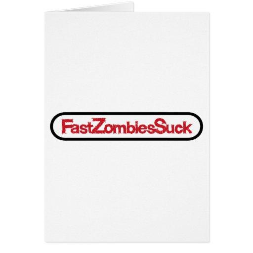 FastZombiesSuck Tarjeta