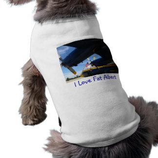 Fat Albert Blue Angels Dog Tshirt