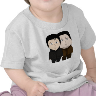 Fat and Cool Two Cartoon Boys Tee Shirts