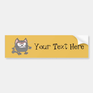 Fat Angry Grey Kitty Cat Bumper Sticker