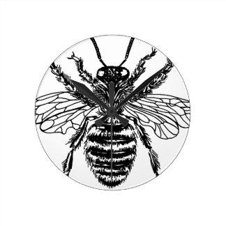 Fat Bee Nice Vintage png Wallclocks