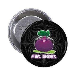 Fat Beet Pinback Button