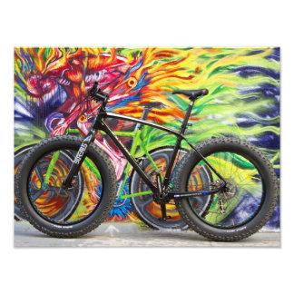 Fat Bike and Flames Photo Print